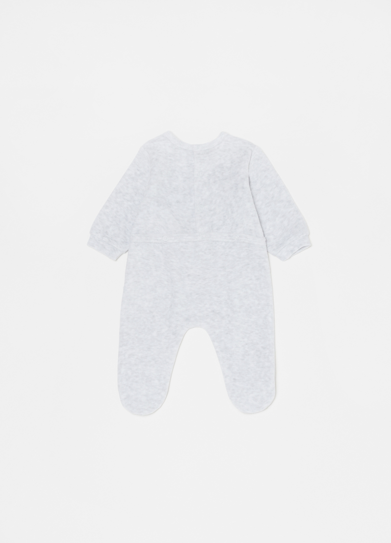 Mélange onesie with feet and koala print image number null