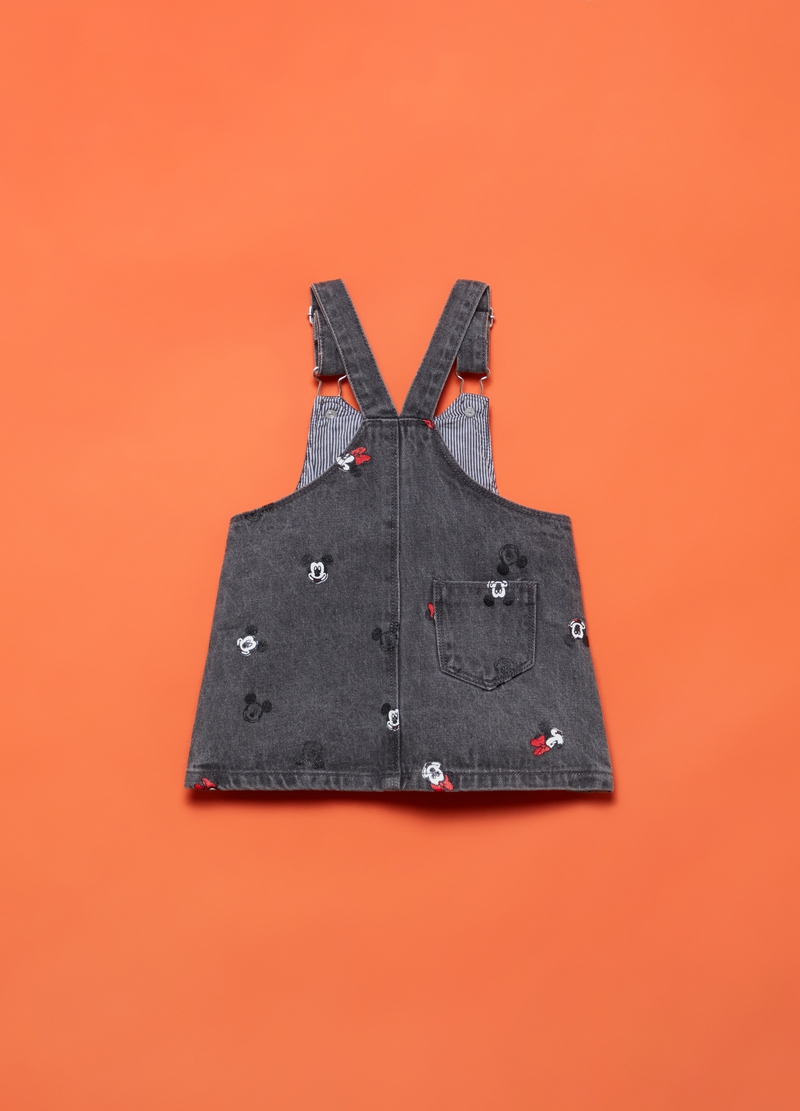Denim dungarees with Minnie Mouse pattern image number null