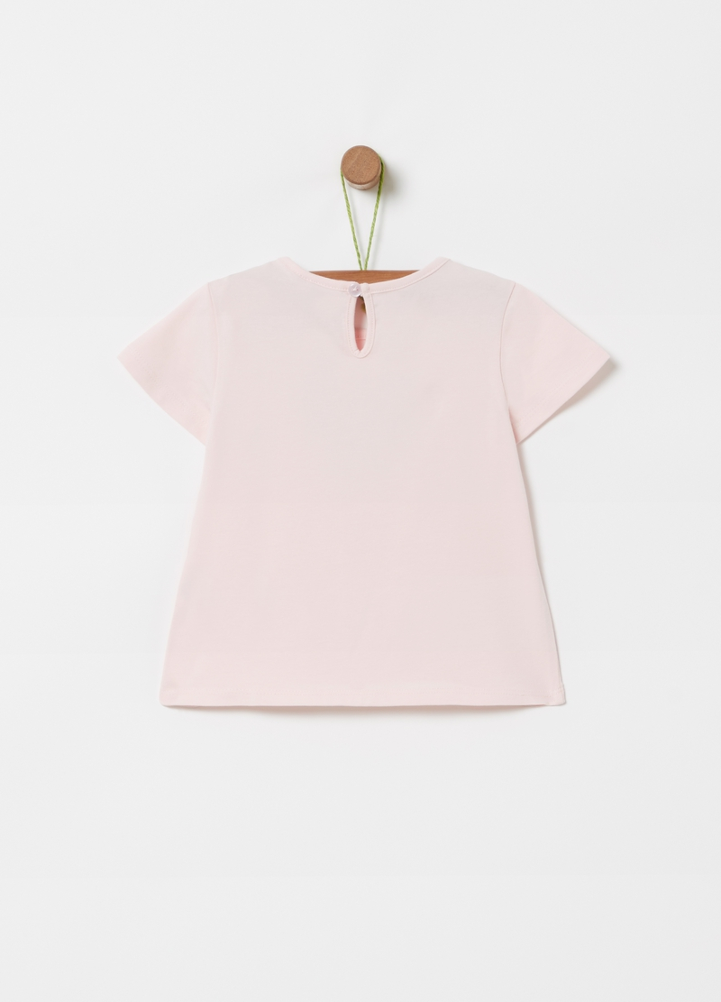 T-shirt cotone bio stretch stampa cuore image number null
