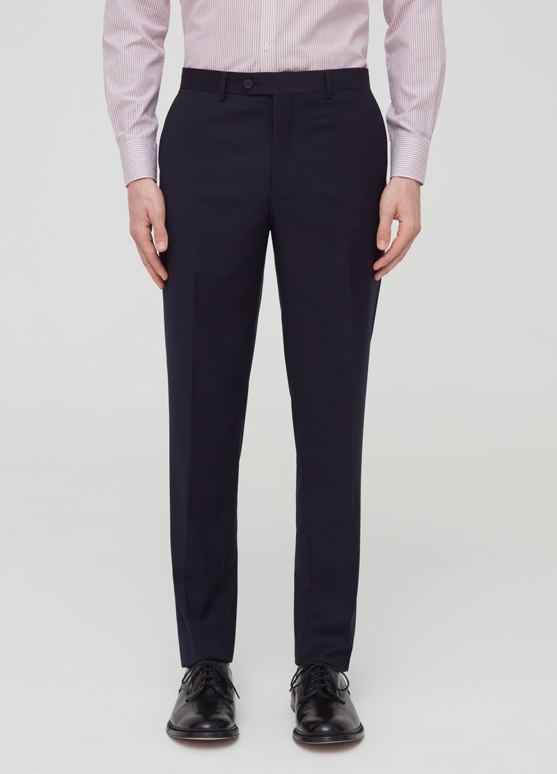 Solid colour regular-fit trousers image number null