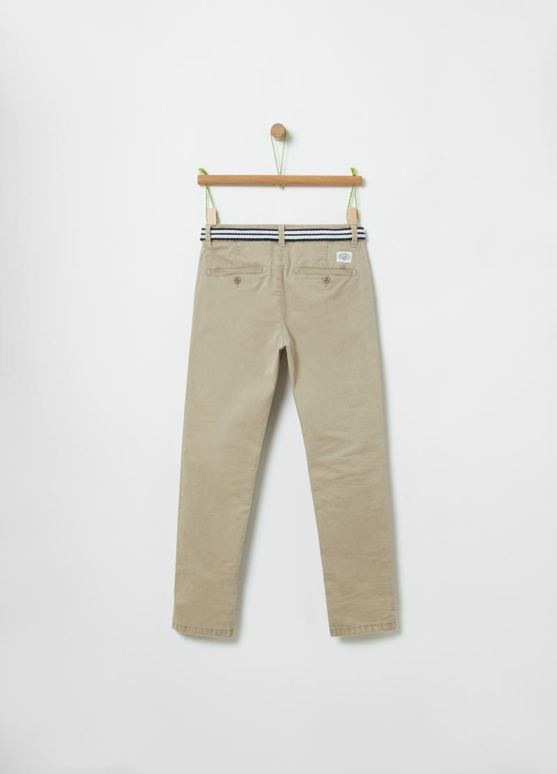 Stretch chino trousers image number null