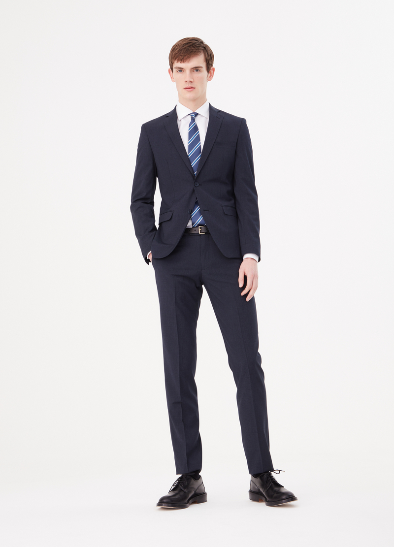 Blazer slim fit in misto viscosa stretch image number null