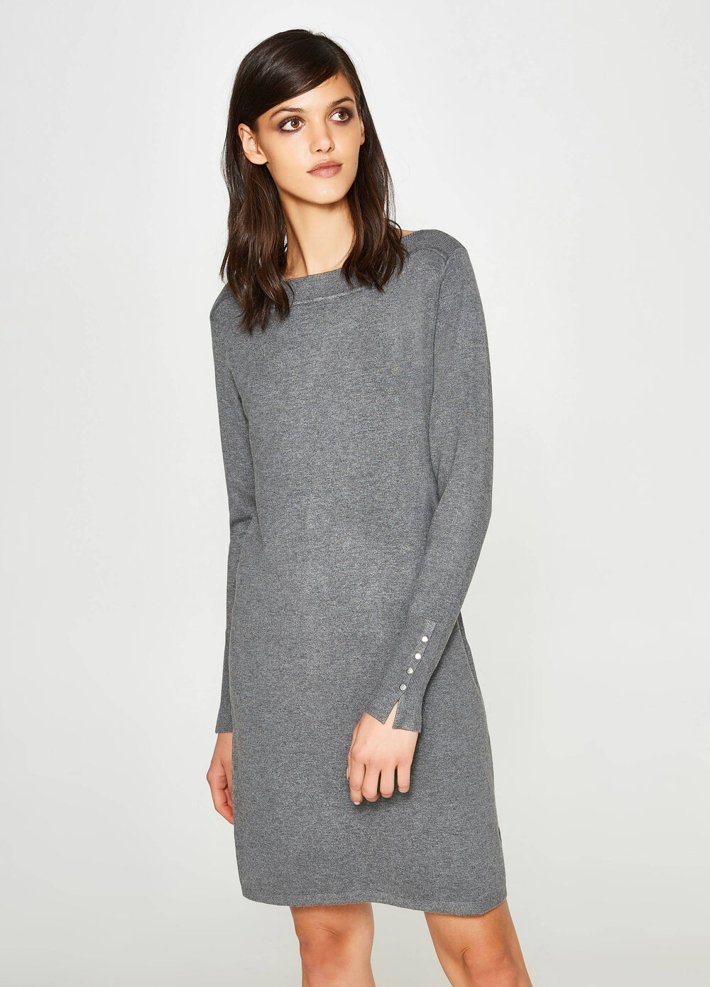 Stretch viscose knit dress
