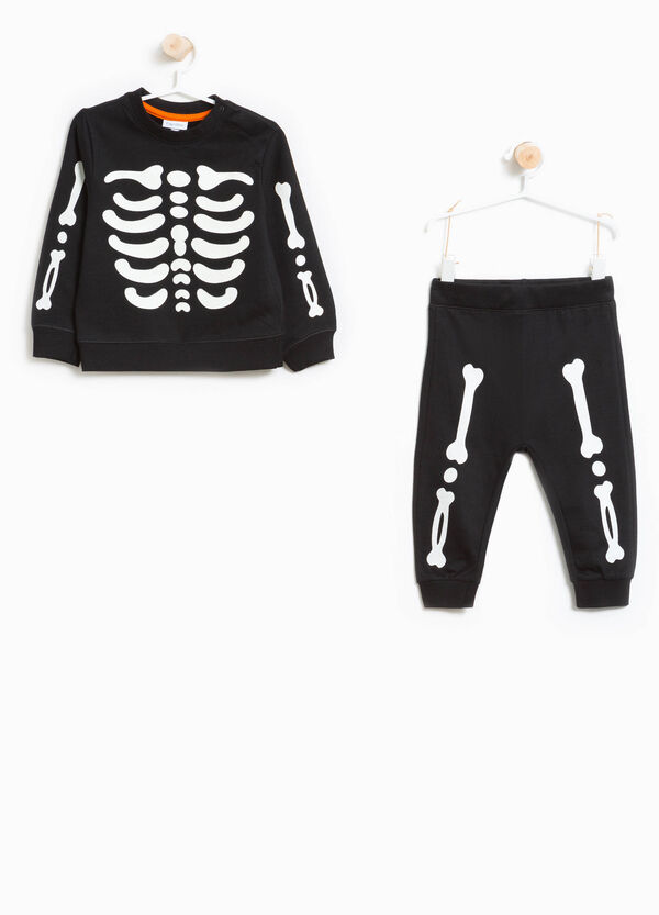 100% cotton tracksuit with skeleton print | OVS