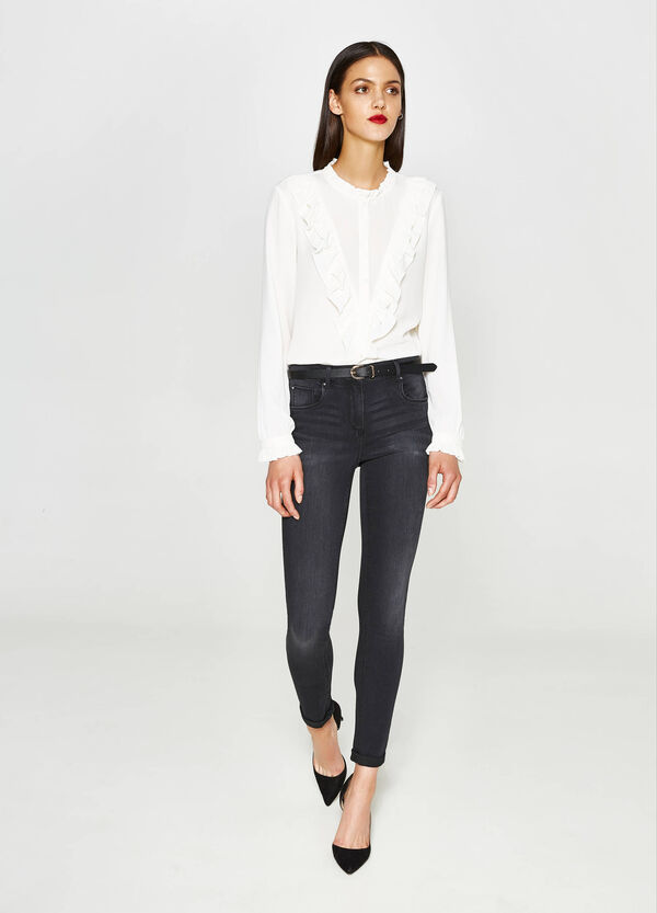 Push-up worn-effect jeans | OVS