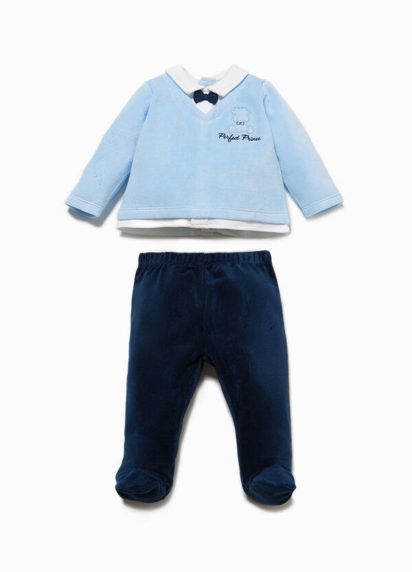 Embroidered T-shirt and baby leggings set | OVS