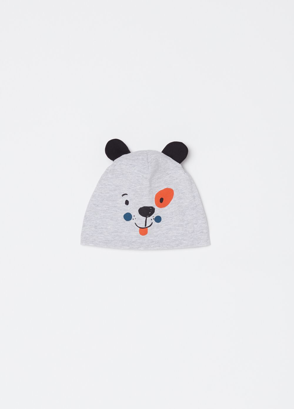 Hat with panda motif ears