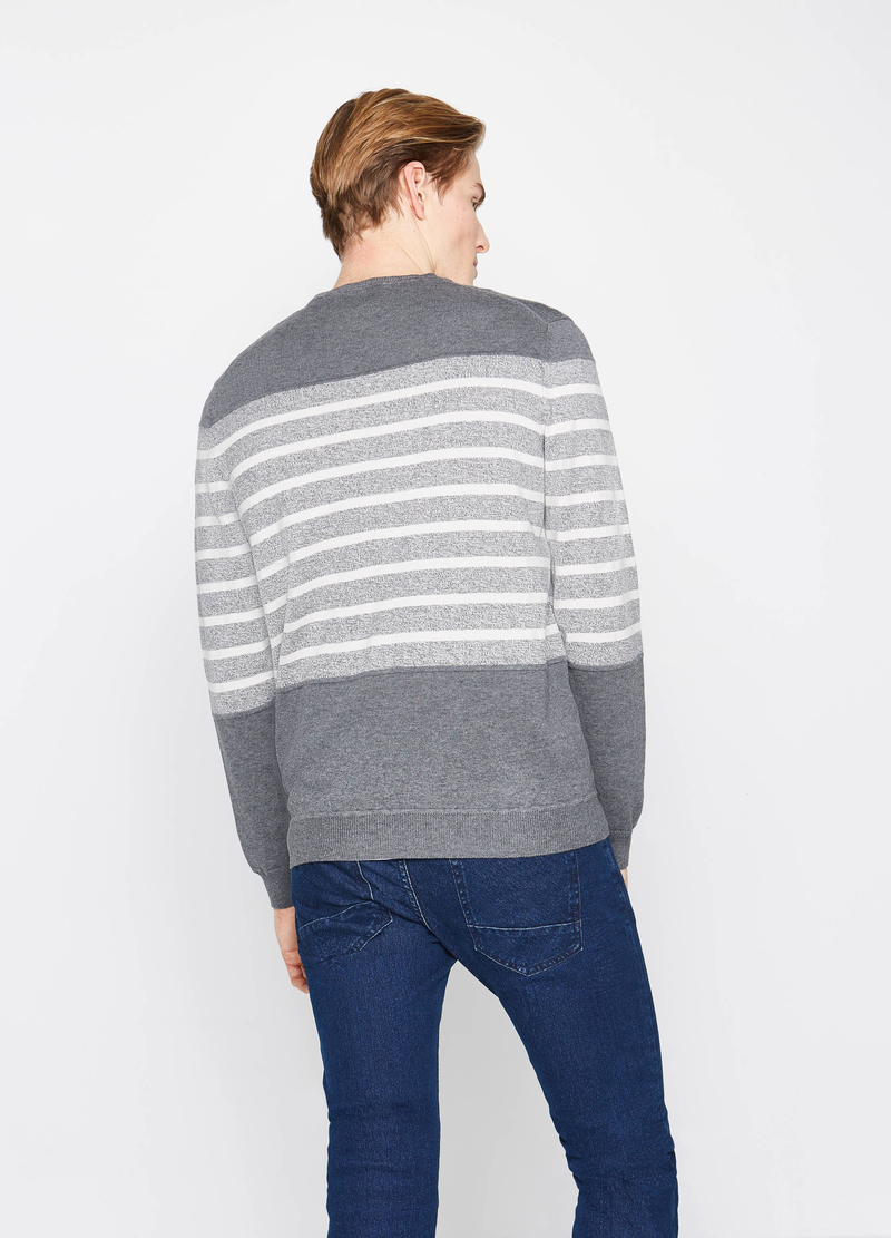 Pullover in puro cotone a righe image number null