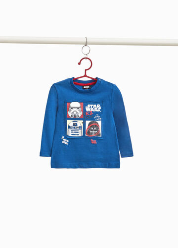 T-shirt puro cotone patch Star Wars