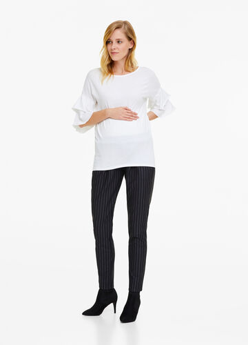 Pantaloni misto viscosa stretch righe MUM