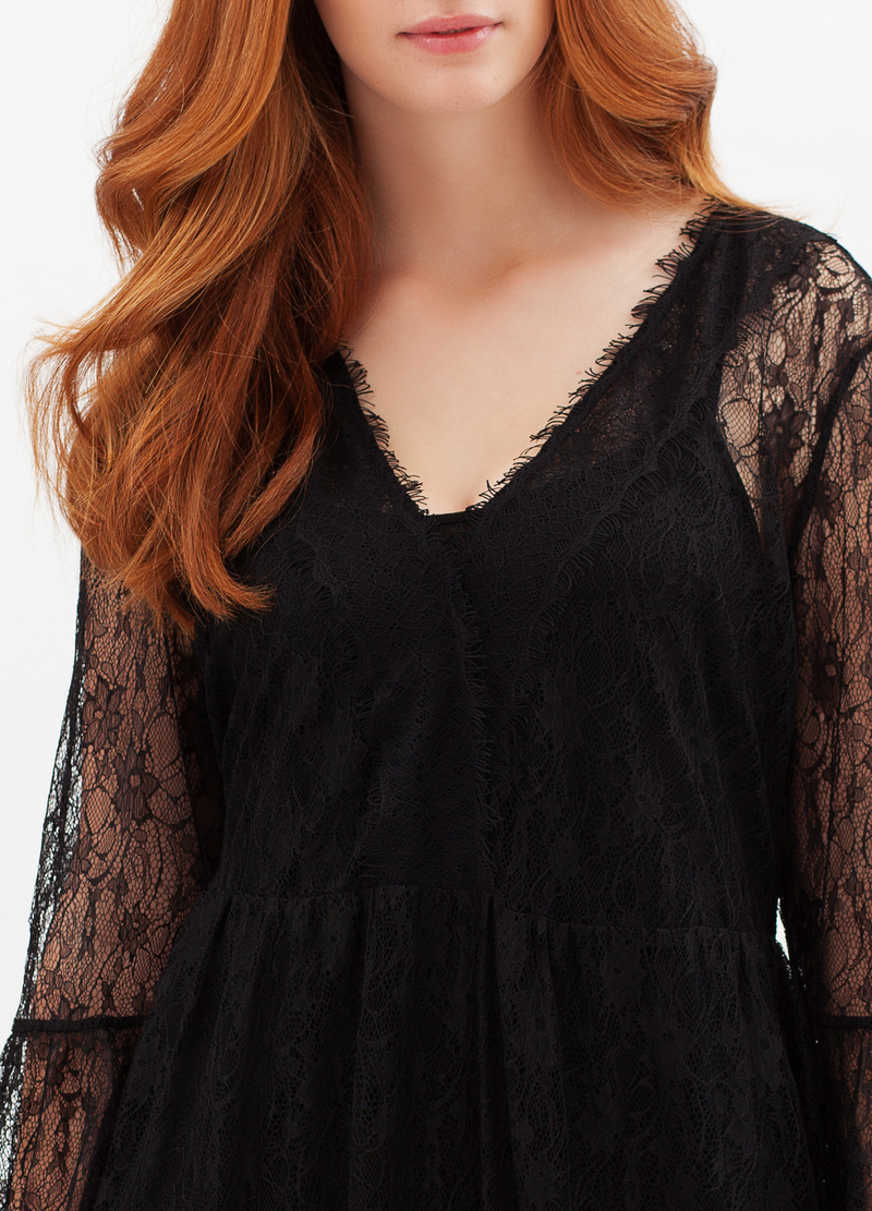 Abito lungo pizzo stretch Curvyglam image number null