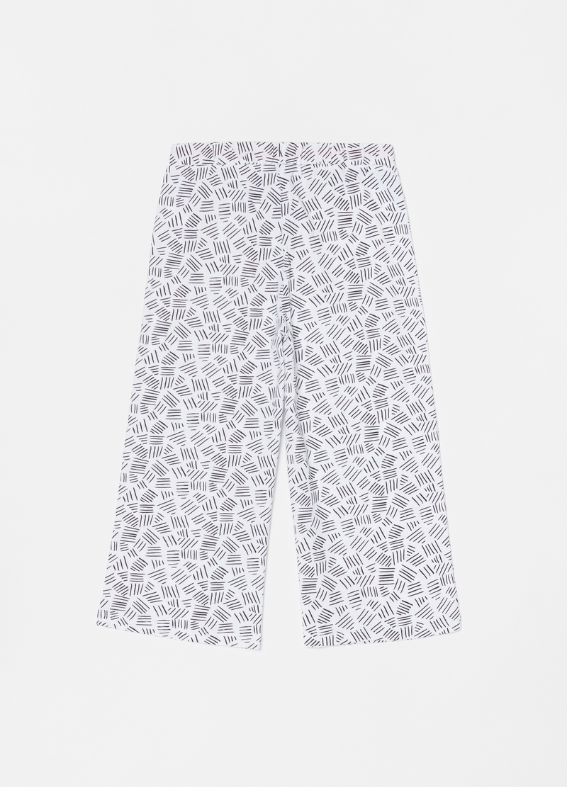 Long pyjama trousers with pattern image number null