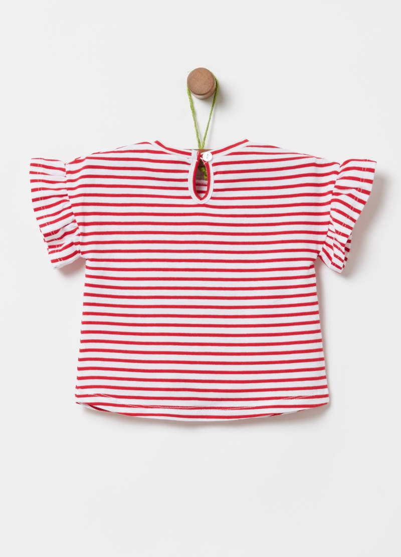 T-shirt cotone bio stretch a righe image number null