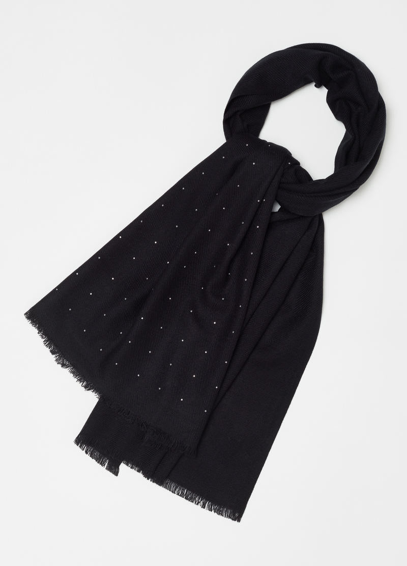Scarf with diamantés image number null