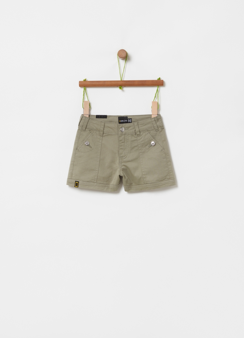 Shorts cotone stretch National Geographic image number null