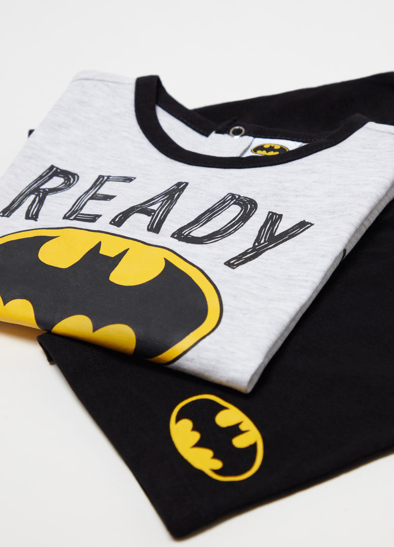 T-shirt and shorts pyjamas with Batman print image number null
