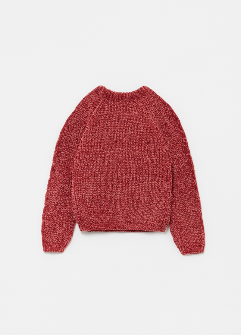 Round neck pullover with raglan sleeves image number null