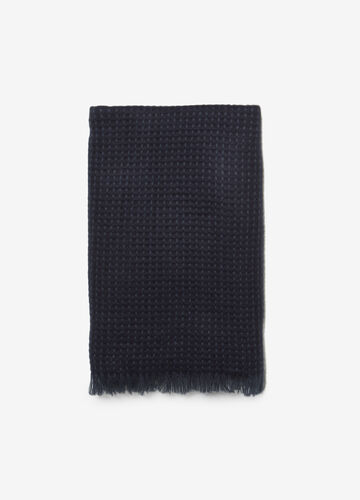 Solid colour scarf with jacquard design