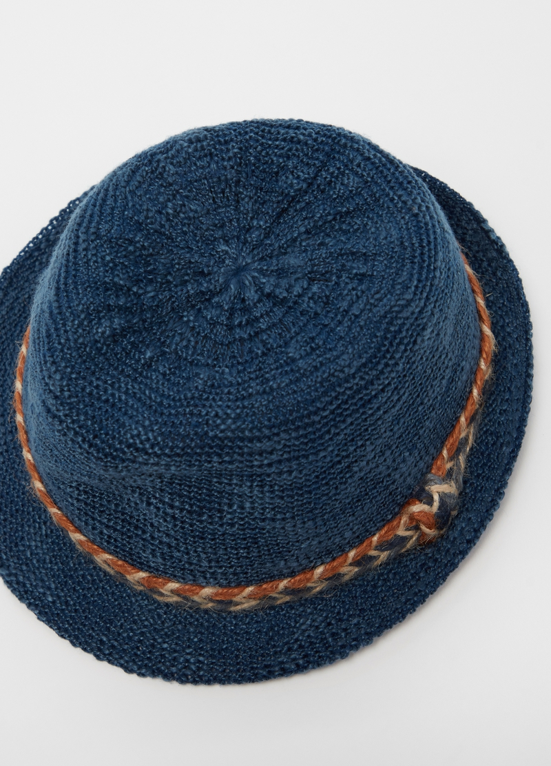 Straw hat with cord insert image number null