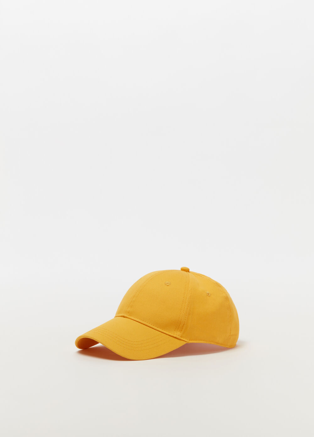 Solid colour baseball cap with buckle