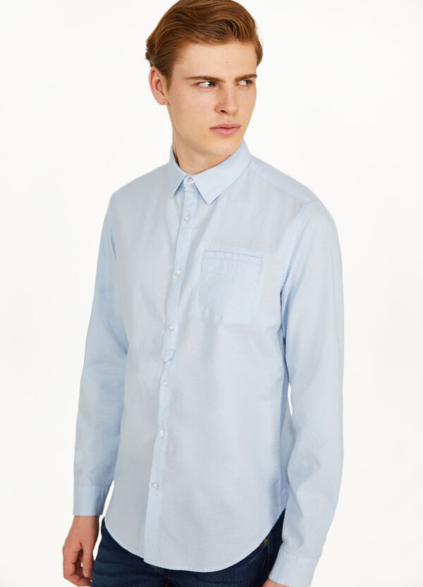 100% cotton casual shirt with weave