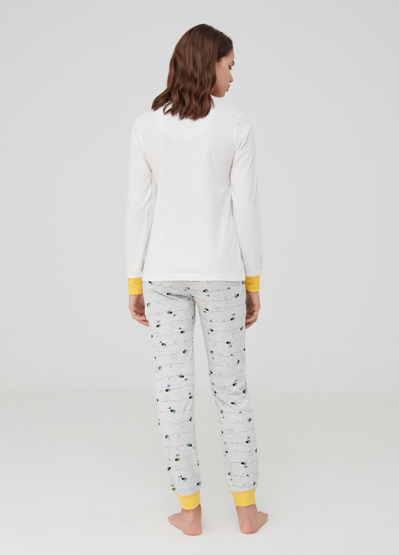 Long pyjamas in organic cotton image number null