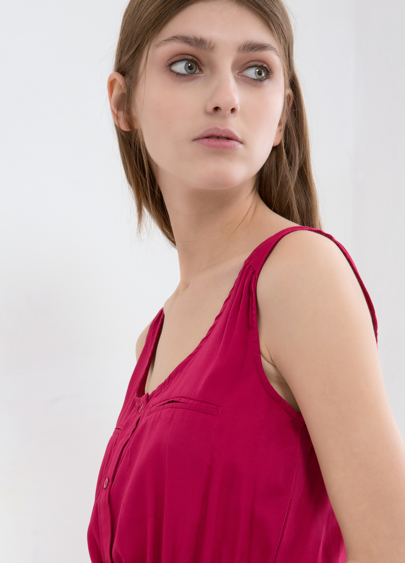 Solid colour sleeveless dress image number null