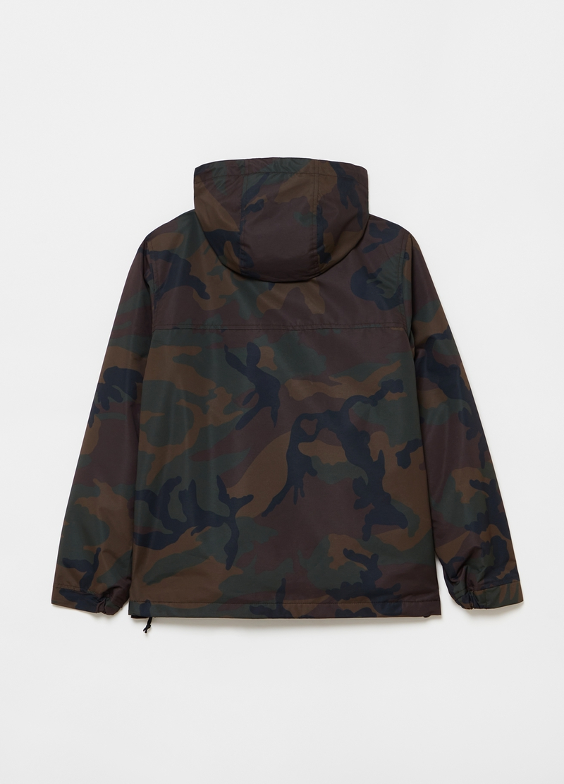 Lightweight jacket with camouflage hood image number null