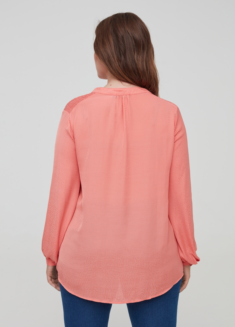 Curvy satin blouse image number null