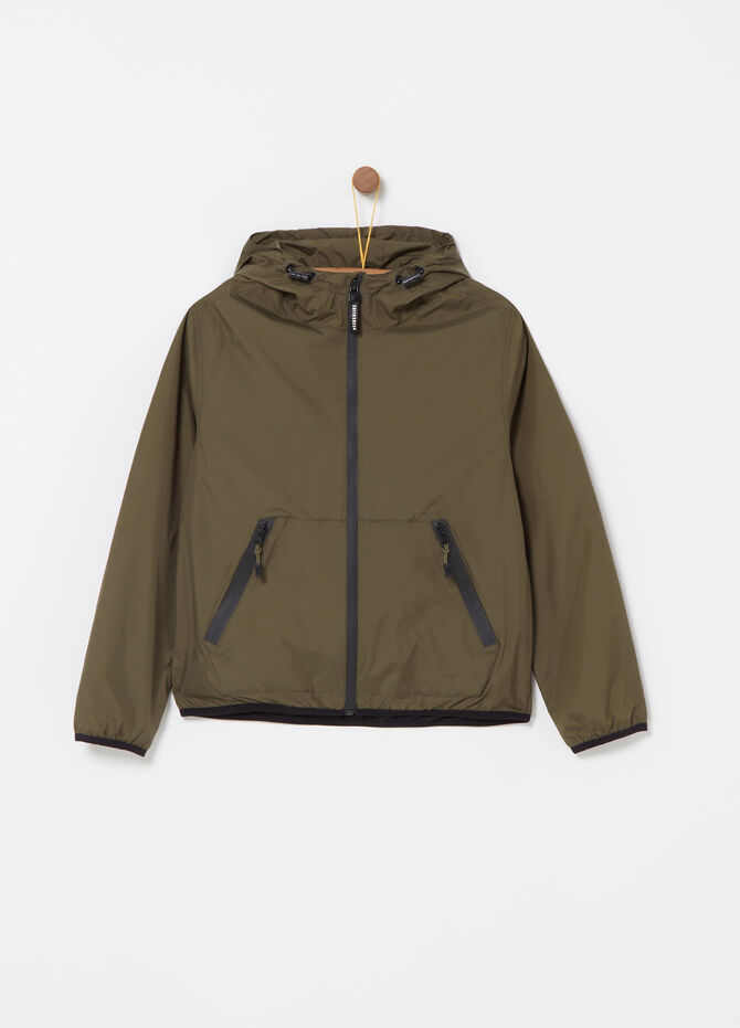 Windproof jacket with lining and pocket