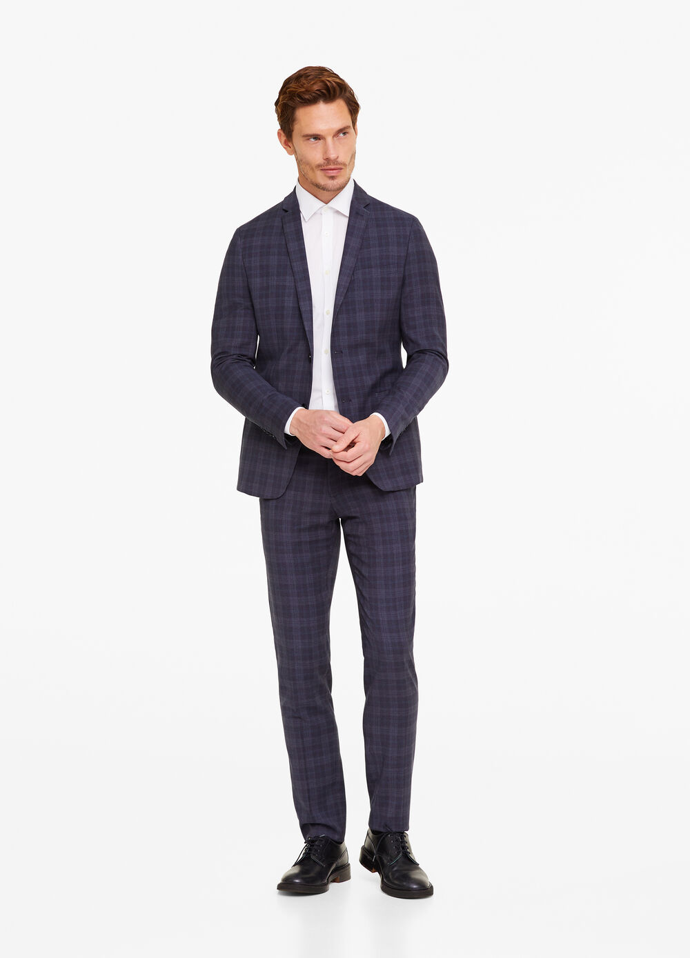 Slim-fit jacket in Prince of Wales fabric