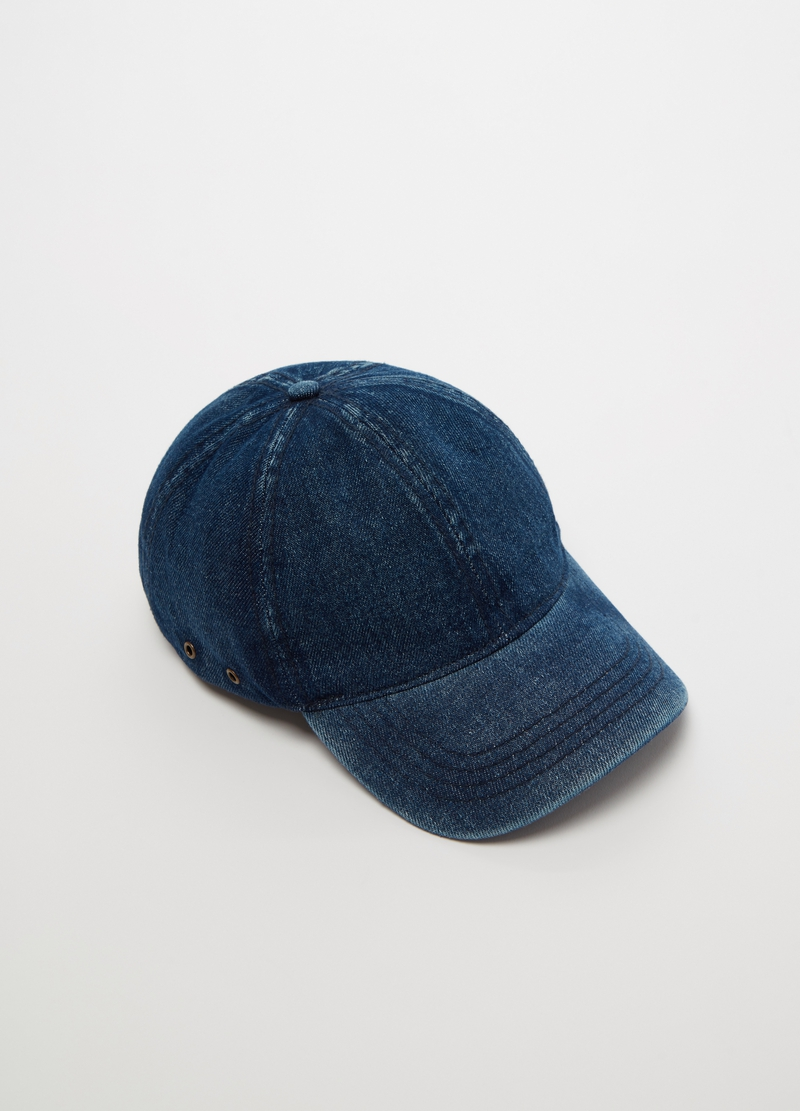 Denim baseball cap image number null