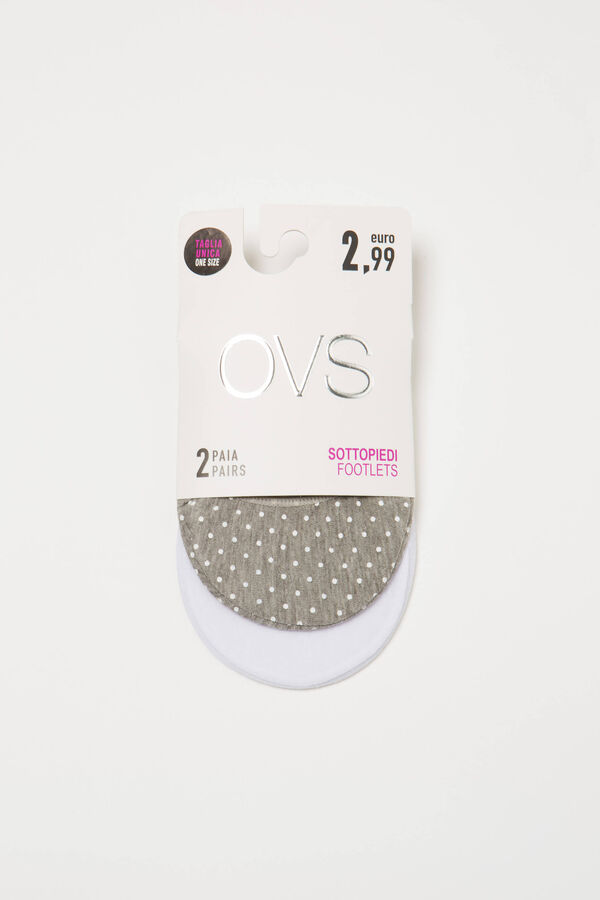 Two-pair pack patterned shoe liners | OVS
