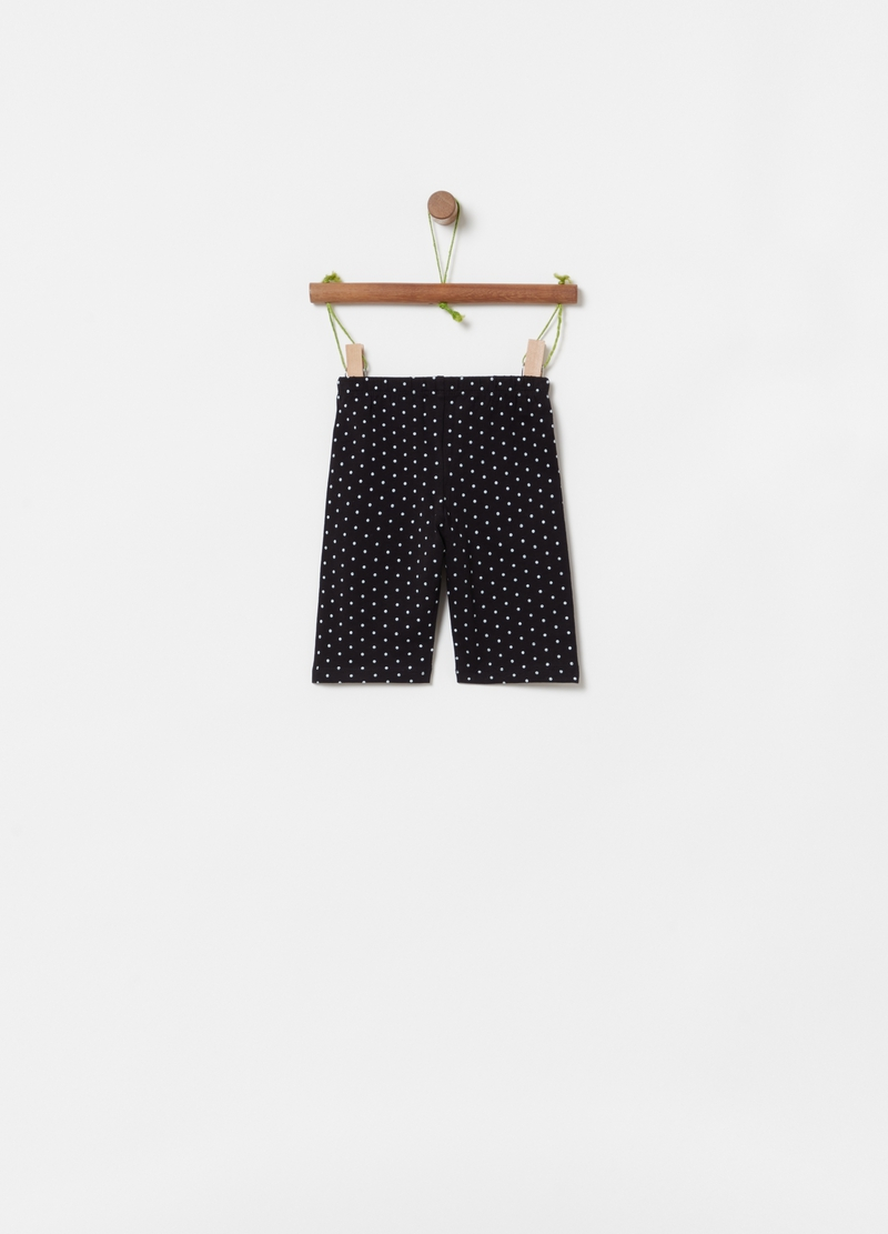 Leggings corti stampa a pois all-over image number null
