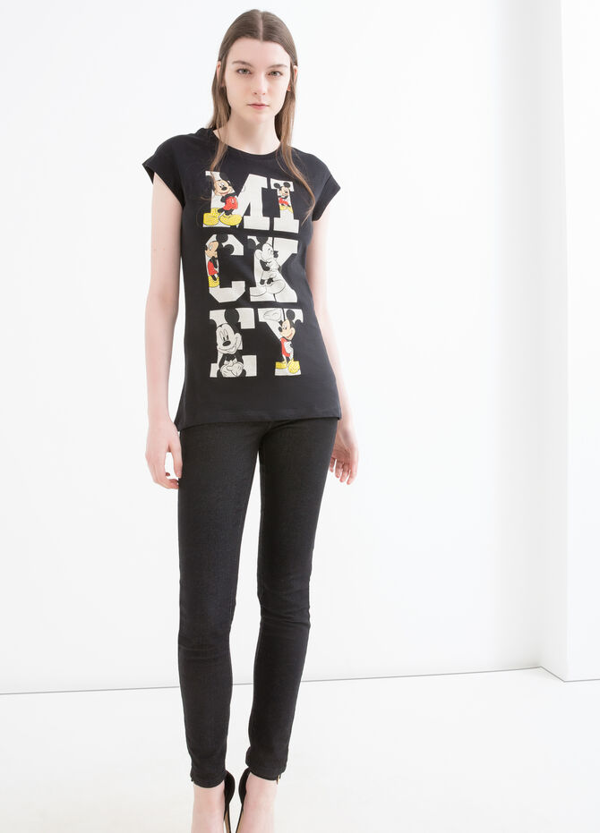 T-shirt cotone stampa Mickey Mouse