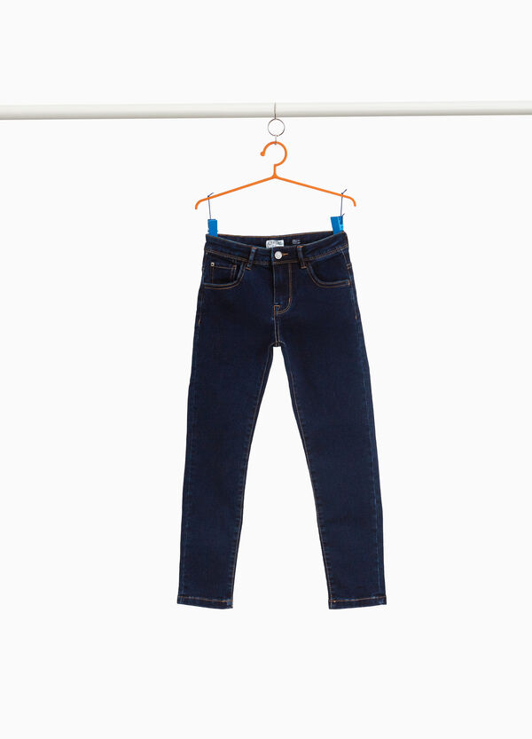 Jeans slim fit stretch tinta unita