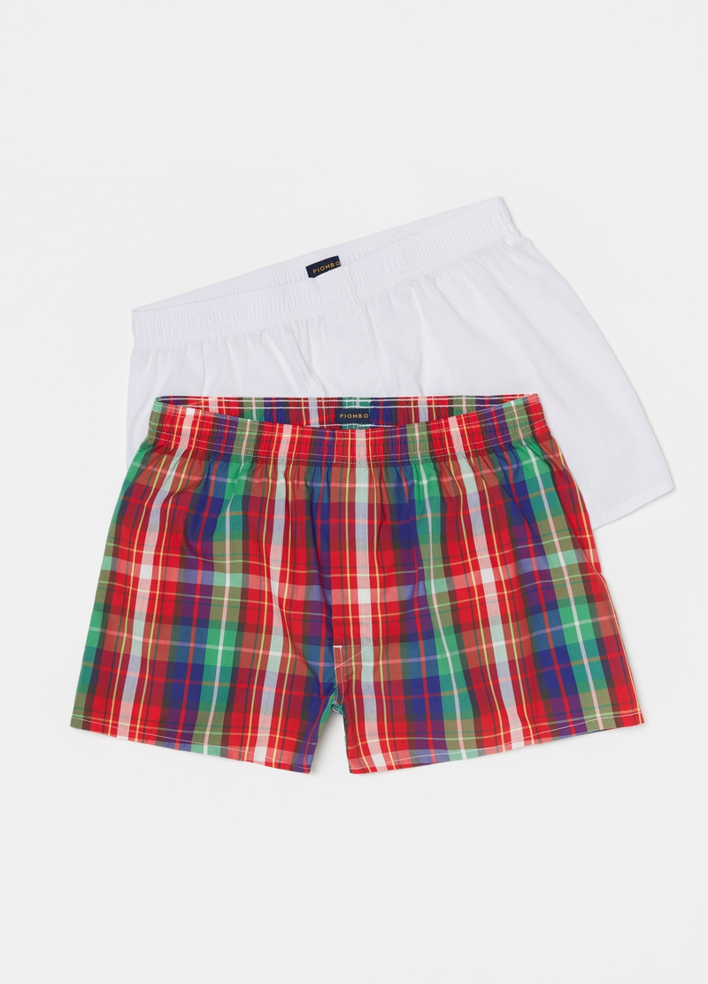 PIOMBO two-pack boxer shorts in cotton canvas with pattern image number null