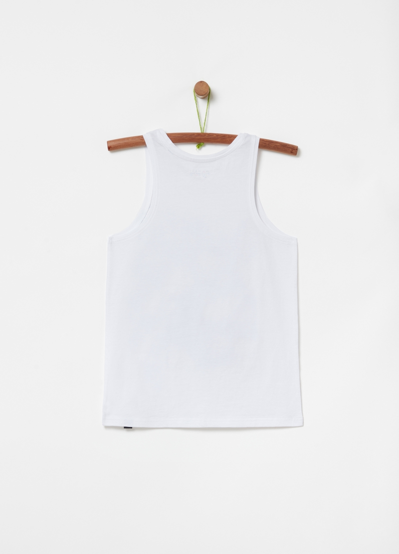 Pure organic cotton tank top with Maui and Sons print image number null