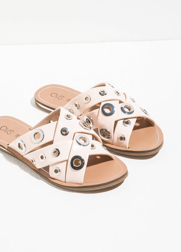 Strap sandals with eyelets | OVS