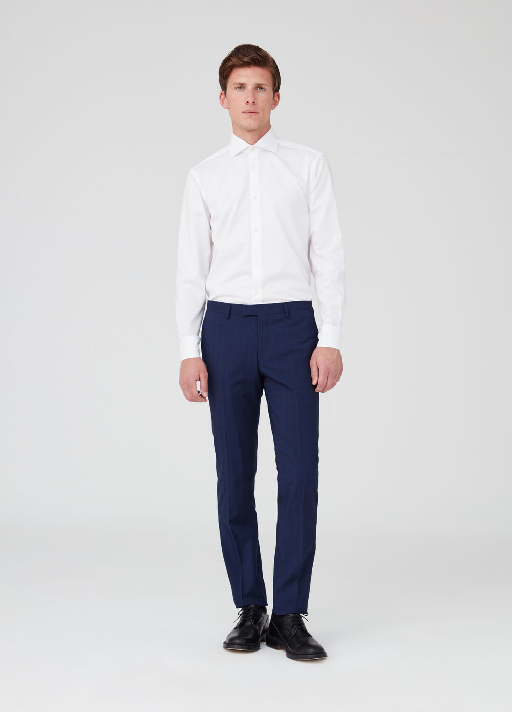 Stretch trousers with check pockets