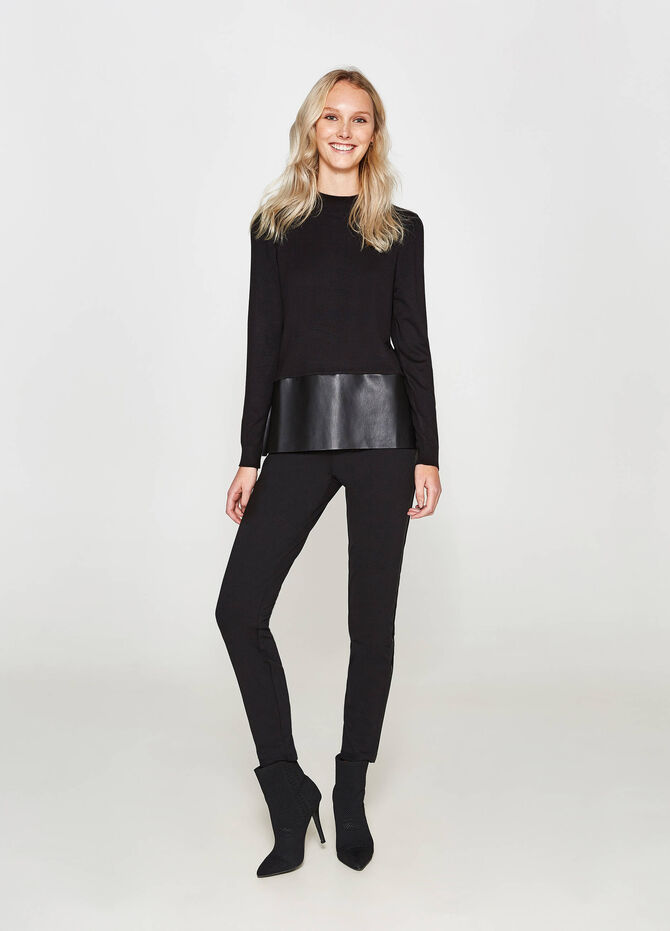 Leggings in viscosa stretch