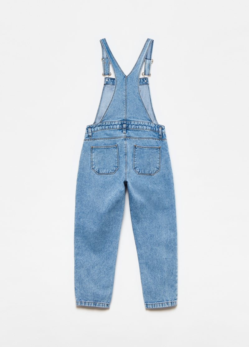 Dungarees in 100% cotton denim image number null