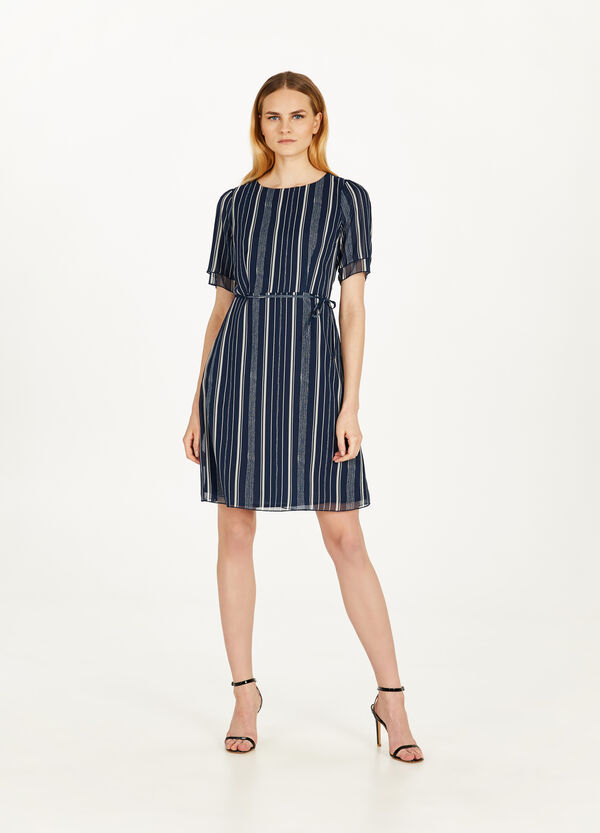 Georgette dress with tie