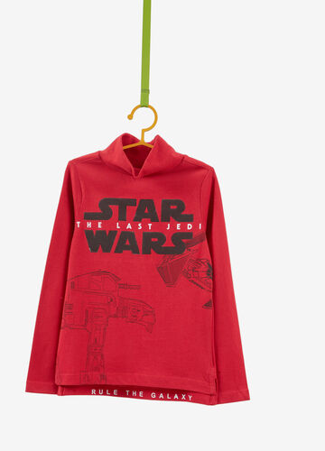 100% cotton Star Wars T-shirt with high neck