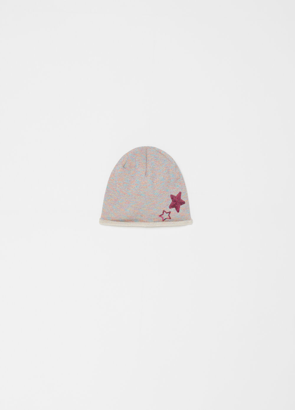 Cotton jersey beret with stars