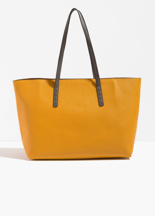 Shopping bag con manici a contrasto | OVS