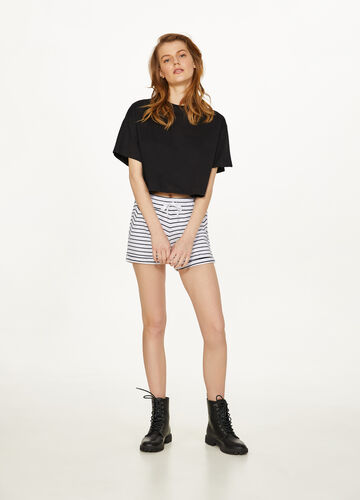 Shorts in cotone stretch a righe
