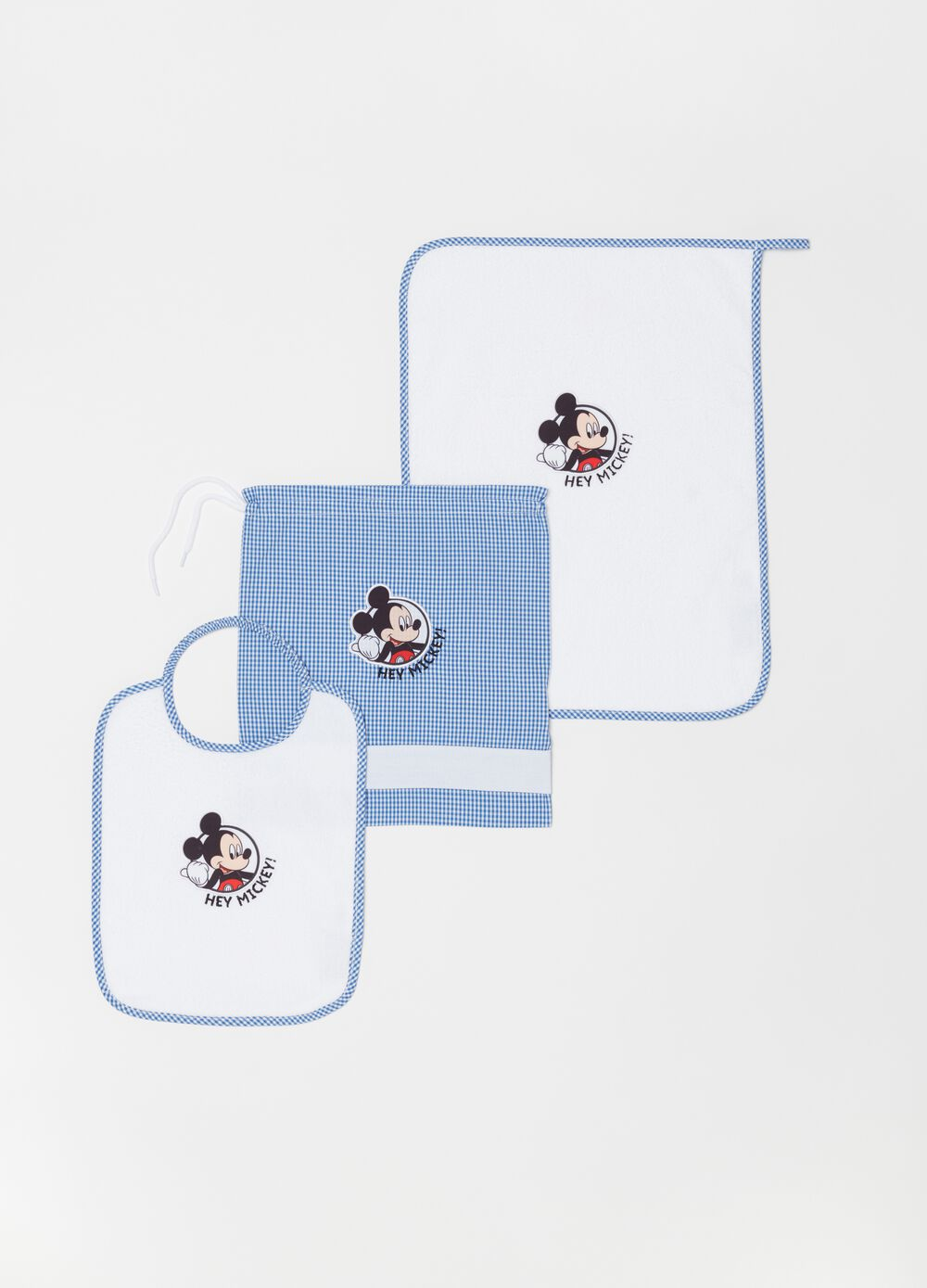 Mealtime set with bib, sac and table mat