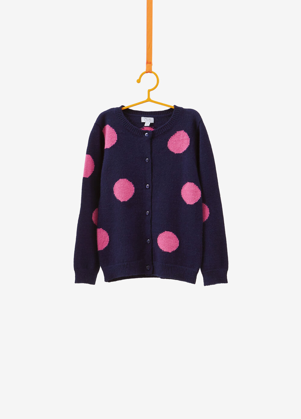 Cardigan misto viscosa pois all-over