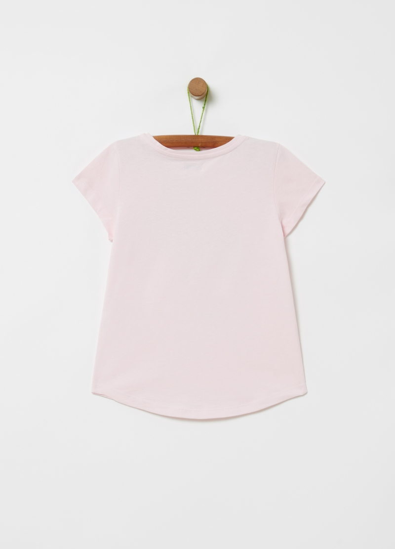 T-shirt in puro cotone stampa glitter image number null